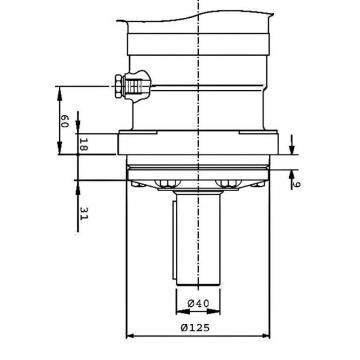 """Hydraulique Moteur 316,1 Cc / Rev G 1/2 """" 32mm Parallèle à Clé Arbre"""